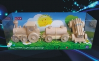 Pociąg towarowy drewniane zabawki dla dzieci