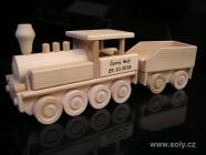 Lokomotywa z wagonem, zabawka