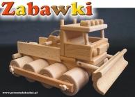 Pług śnieżny, zabawka drewniana