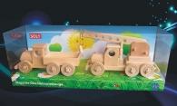 Ciężarówka i Żuraw, zabawki z drewnia