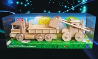 Ciężarówka TATRA i ładowarka, zabawka z drewna