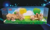 Ciężarówka i samochód z drewna, zabawki