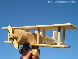 Samolot prezenty z drewnia
