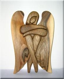Anioły figury z drewna