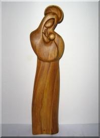 Madonna z Dzieciątkiem Jezus, trzymając rzeźby z drewna