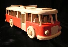 czerwony autobus zabawka prezent