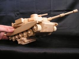 Amerykański czołg z drewna dla chłopców