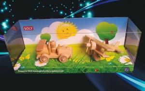 Autko i samolot z drewna, zabawka