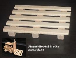 Paleta do wózki widłowe, drewniana