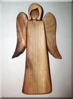 Anioły figura, orzech drewno