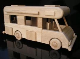 Samochód kempingowy, zabawka drewniana