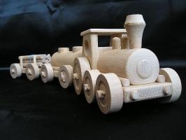 Drewniany pociąg dla dzieci, zabawka