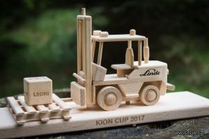 Wózek jezdniowy WÓZKI WIDŁOWE, drewniana zabawka