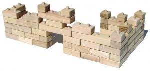 Drewniane kostki - modułowe składane