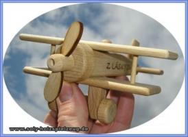 Drewniany samolot, zabawka
