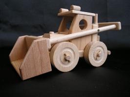 Ladowarka piasku, drewniane zabawki