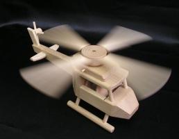 Drewniany helikopter dla dzieci, zabawka