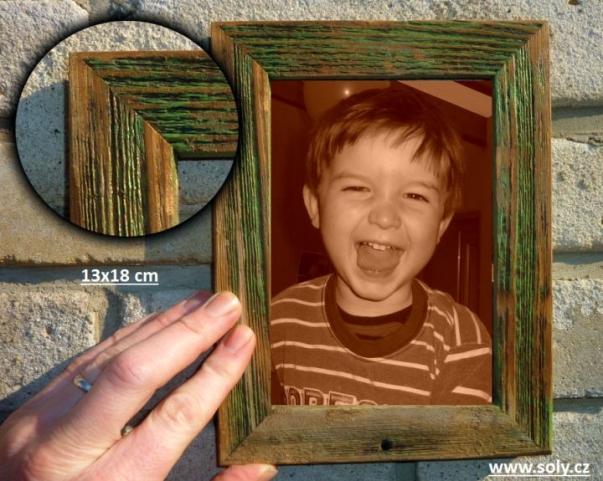 13x18 drewniana ramka na zdjęcia, zielony