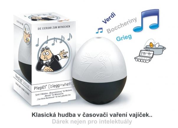 MOZART, BOCCHERINI, GRIEG Muzyka klasyczna w jajku BeepEgg B+W. Orginalny prezent pod choinkę.