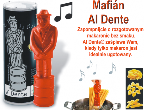 Al Dente śpiewający mafian  -  czasomierz do gotowania makaronu