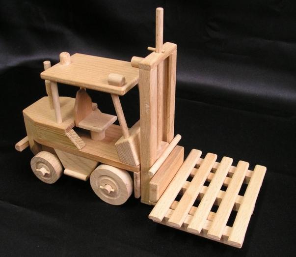 Wózki widłowe, zabawka, prezent