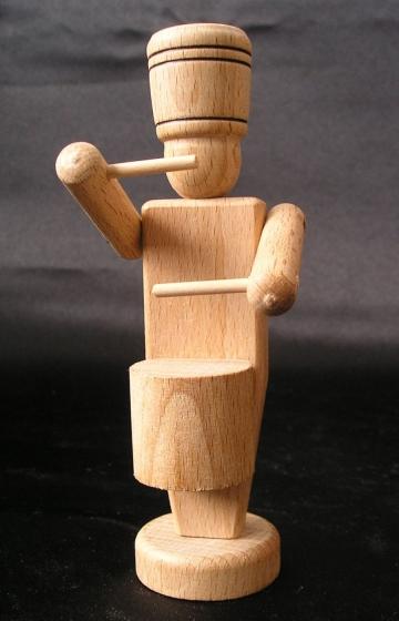 Żołnierz perkusista, drewniana zabawka