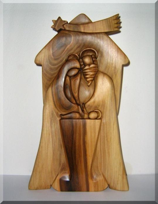 Betlejem drewniana rzeźba