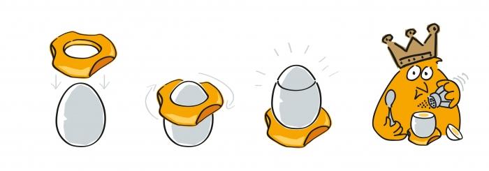 stojak na jajka i otwieracz do jajek