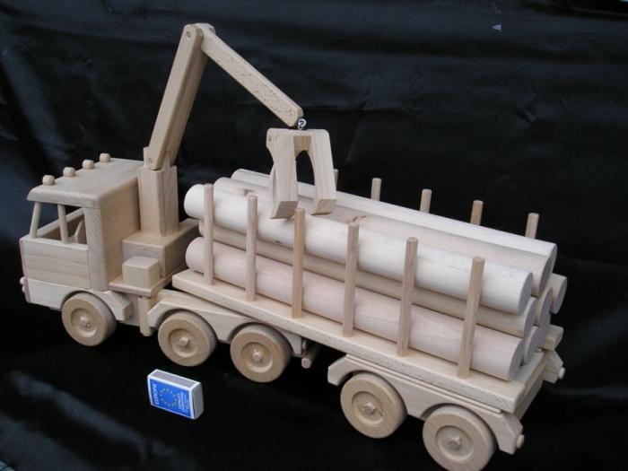 Ciężarówka, ciężarówka z przyczepą, leśnictwo drewna