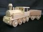 Zabawka lokomotywa parowa