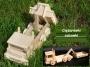 Ciezarovka z drewnia zabawki