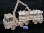 Ciężarówka, ciężarówka z przyczepą, leśnictwo drewna, zabawka
